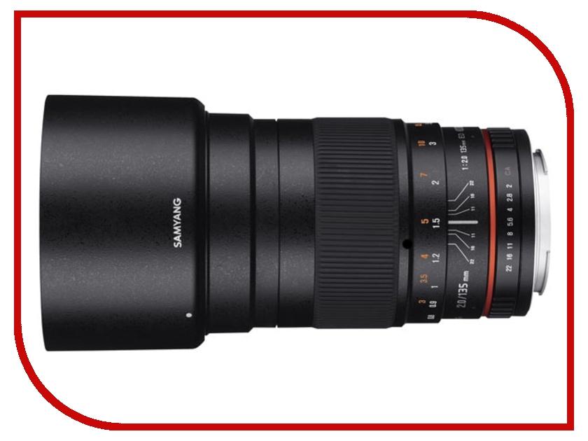 Объектив Samyang Nikon MF AE 135 mm f/2.0 ED UMC объектив samyang 135mm f 2 0 ed umc micro 4 3