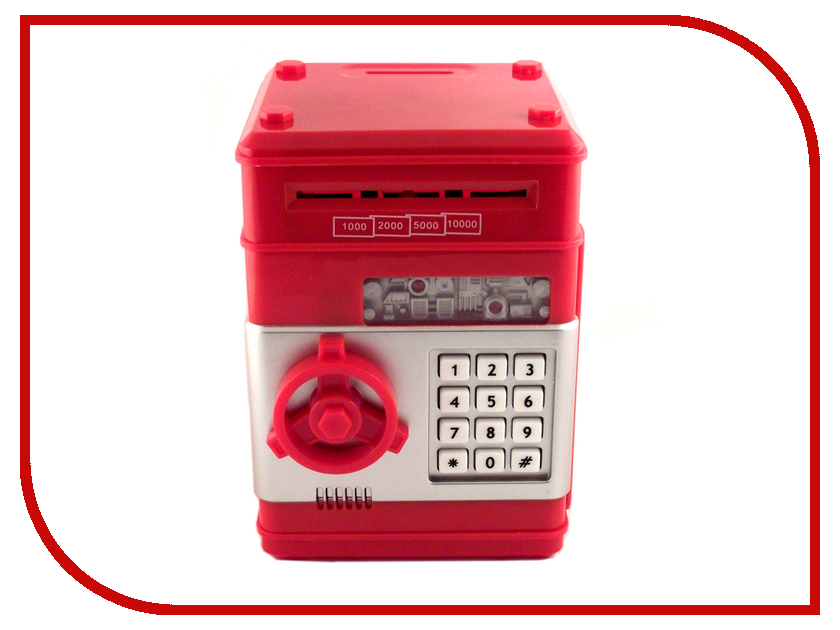 Копилка для денег Эврика Сейф большая Red 94926 копилка для денег эврика банкомат 91911 red