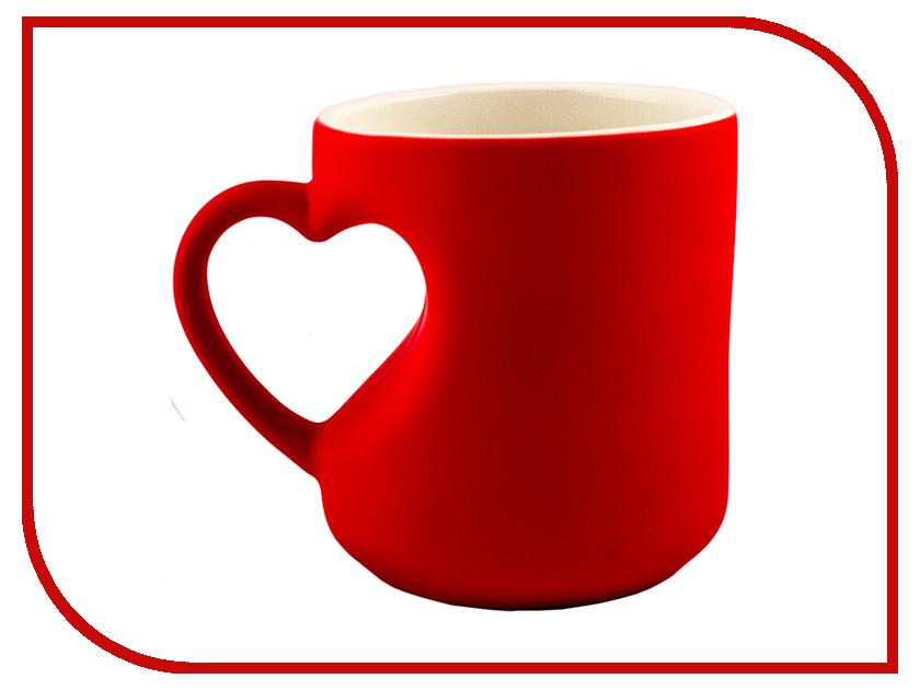 Кружка Эврика кружка-хамелеон Сердце Red 95339