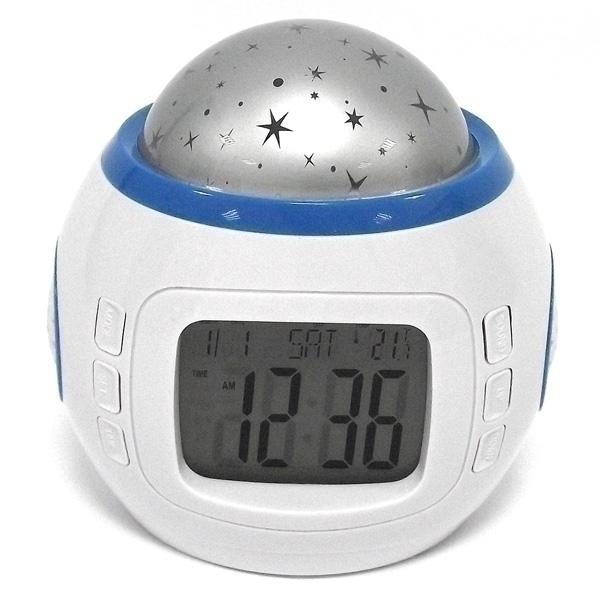 Светильник Эврика Часы-ночник проектор звездного неба 94672