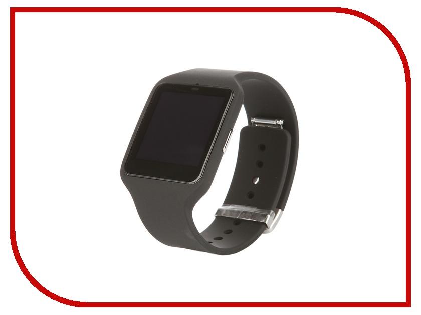 Умные часы Sony SmartWatch 3 SWR50 Silicone Strap Black<br>