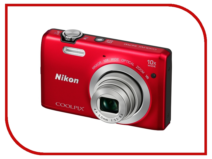 Фотоаппарат Nikon S6700 Coolpix Red