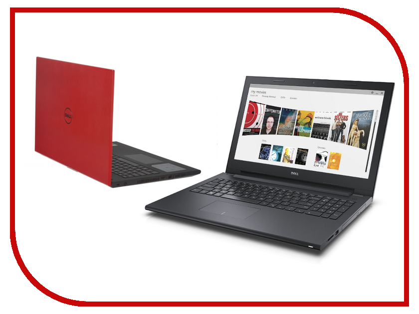 Ноутбук Dell Inspiron 3542 Red 3542-9446 (Intel Core i3-4005U 1.7 GHz/4096Mb/500Gb/DVD-RW/Intel HD Graphics/Wi-Fi/Bluetooth/Cam/15.6/1366x768/Linux)