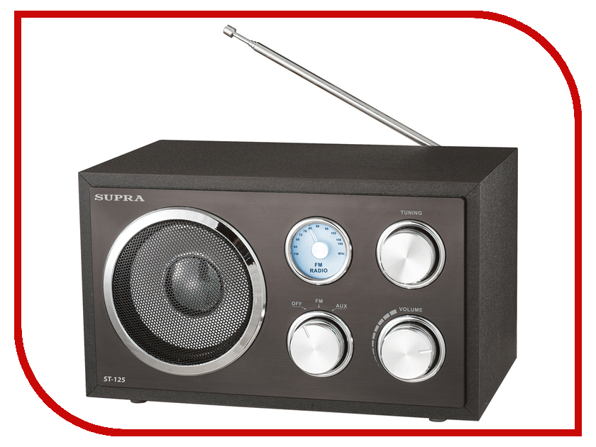 Радиоприемник SUPRA ST-125 радиоприемник supra st 125 черный