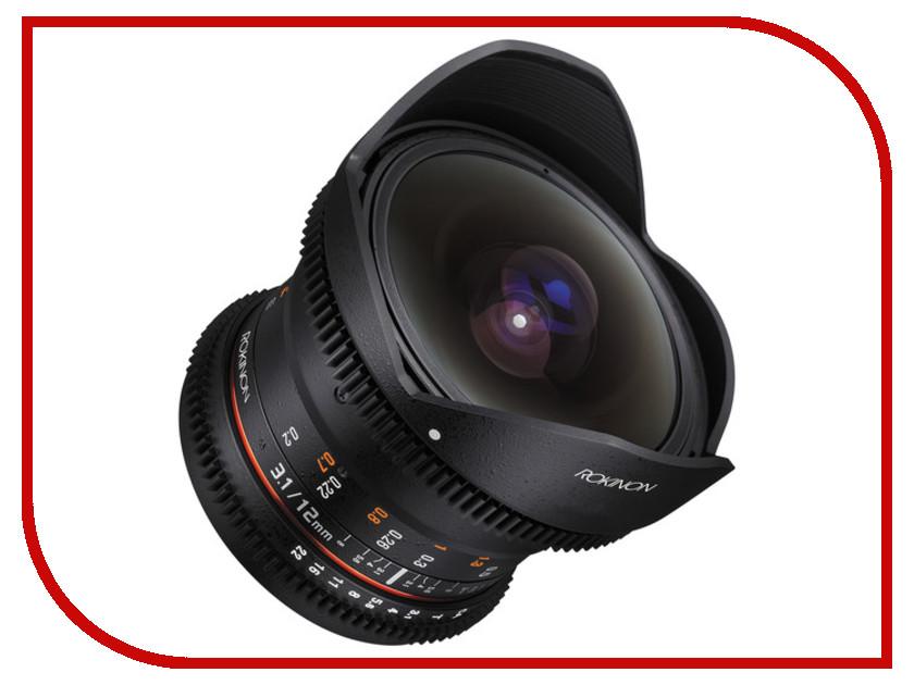 Объектив Samyang Nikon MF 12 mm T3.1 VDSLR объектив samyang sony minolta mf 12 mm t3 1 vdslr