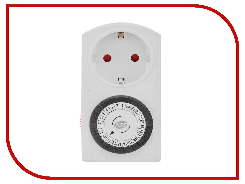 Розетка Rev 67074 8 White  детектор rev 19309 8