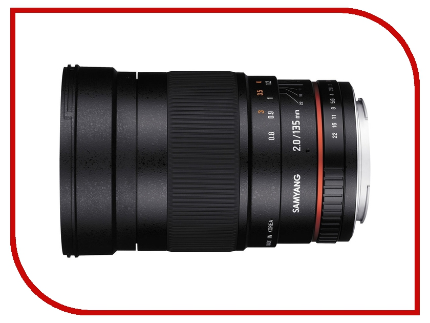 Объектив Samyang Olympus 4/3 MF 135 mm f/2.0 ED UMC<br>