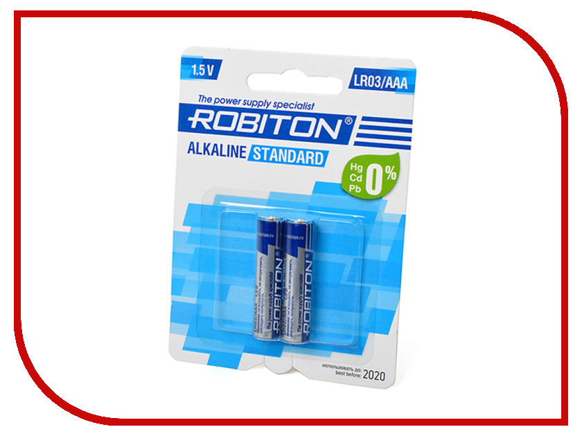 Батарейка AAA - Robiton Standard LR03 BL2 (2 штуки)