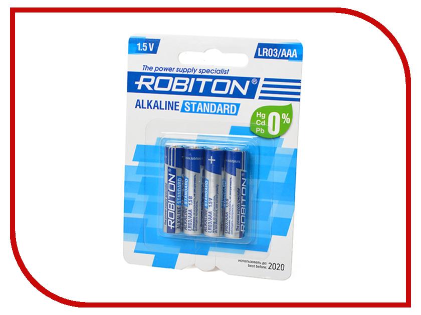 Батарейка AAA - Robiton Standard LR03 BL4 (4 штуки)<br>