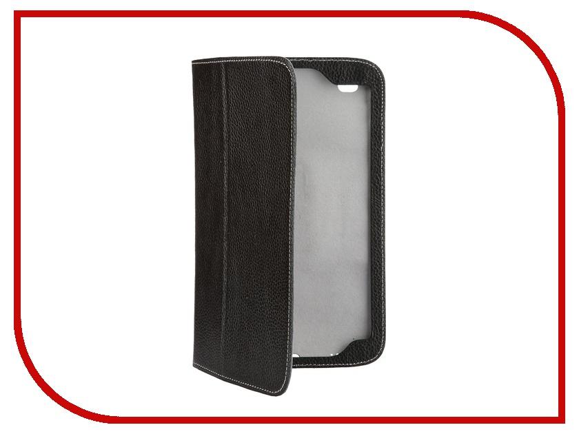 Аксессуар Чехол Samsung Galaxy Tab 4 8.0 Jet.A SC8-26 кожа Black-Grey<br>
