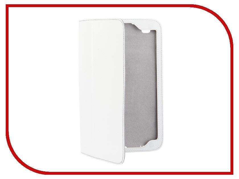 Аксессуар Чехол Samsung Galaxy Tab 4 8.0 Jet.A SC8-26 кожа White-Grey
