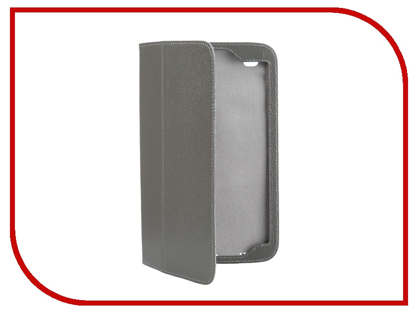 Аксессуар Чехол Samsung Galaxy Tab 4 8.0 Jet.A SC8-26 кожа Grey-Grey