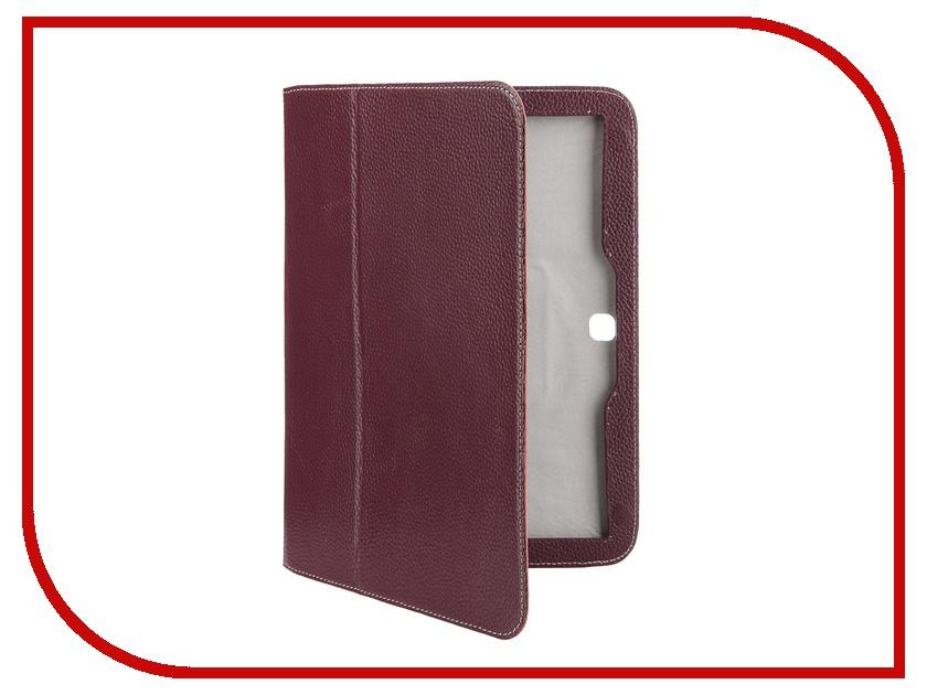 Аксессуар Чехол Samsung Galaxy Tab 4 10.1 Jet.A SC10-26 кожа Purple-Grey<br>