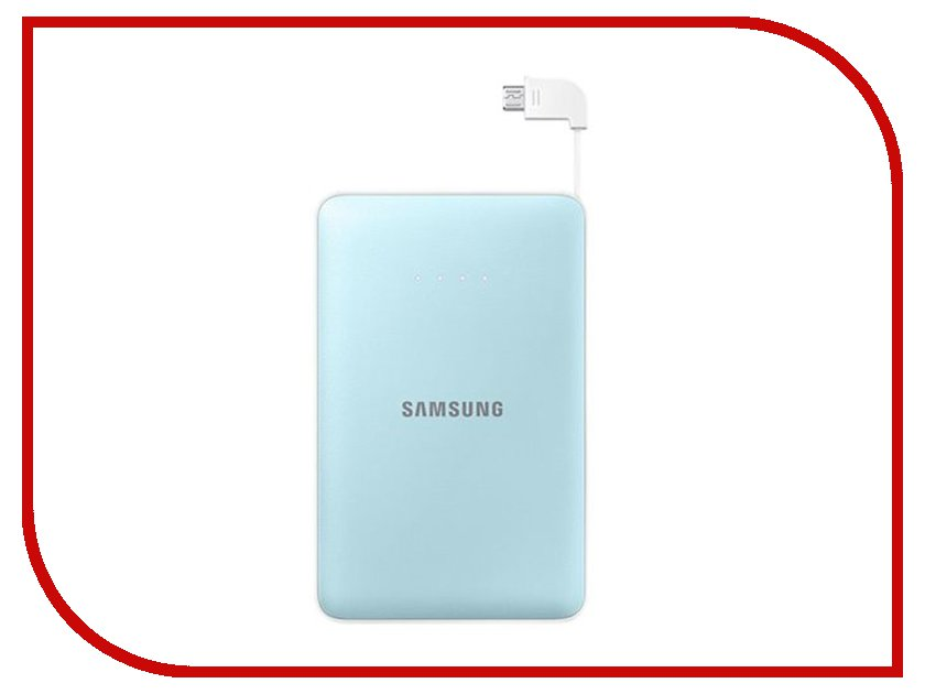 мобильные, внешние аккумуляторы   Аккумулятор Samsung microUSB 11300mAh Light Blue SAM-EB-PN915BLRGRU