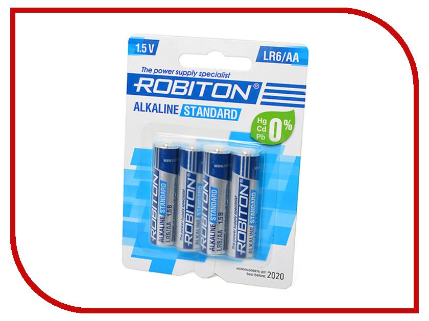 Батарейка AA - Robiton Standard LR6 BL4 (4 штуки)