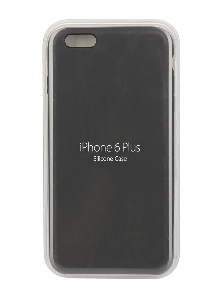 Аксессуар Чехол APPLE Silicone Case для iPhone 6 Plus Black MGR92