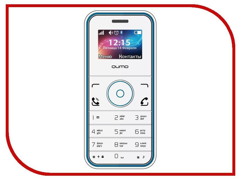 Сотовый телефон Qumo Push mini White Blue