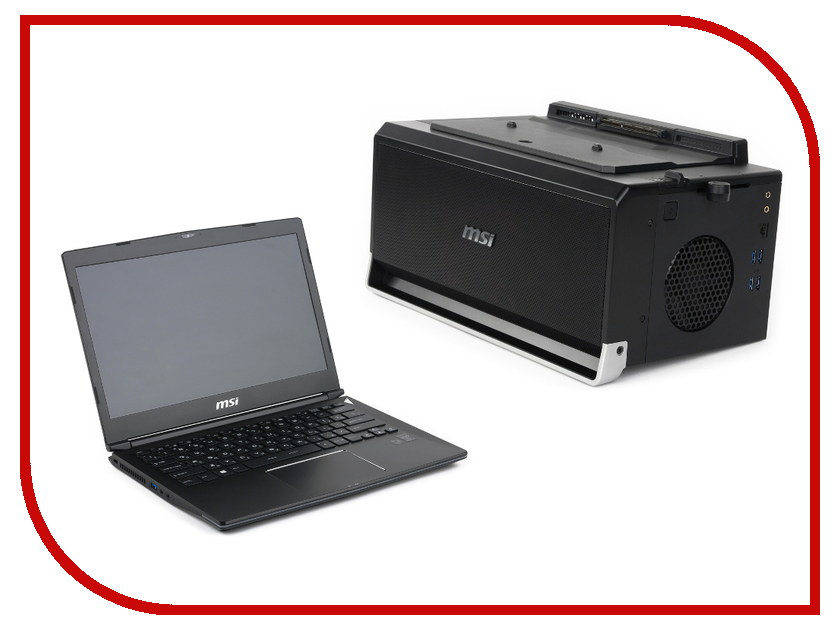 Ноутбук MSI GS30 2M-010RU Black 9S7-13F112-010 (Intel Core i7-4870HQ 2.5 GHz/16384Mb/256Gb SSD/No ODD/nVidia GeForce GTX 970 4096Mb In Gamingdock/Wi-Fi/Cam/13.3/1920x1080/Windows 8 64-bit)<br>