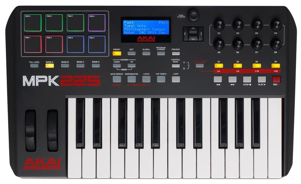 MIDI-клавиатура AKAI pro MPK225 USB стоимость