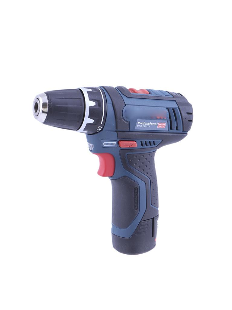 Электроинструмент BOSCH GSR 12V-15 2.0Ач х2 L-BOXX 0601868109