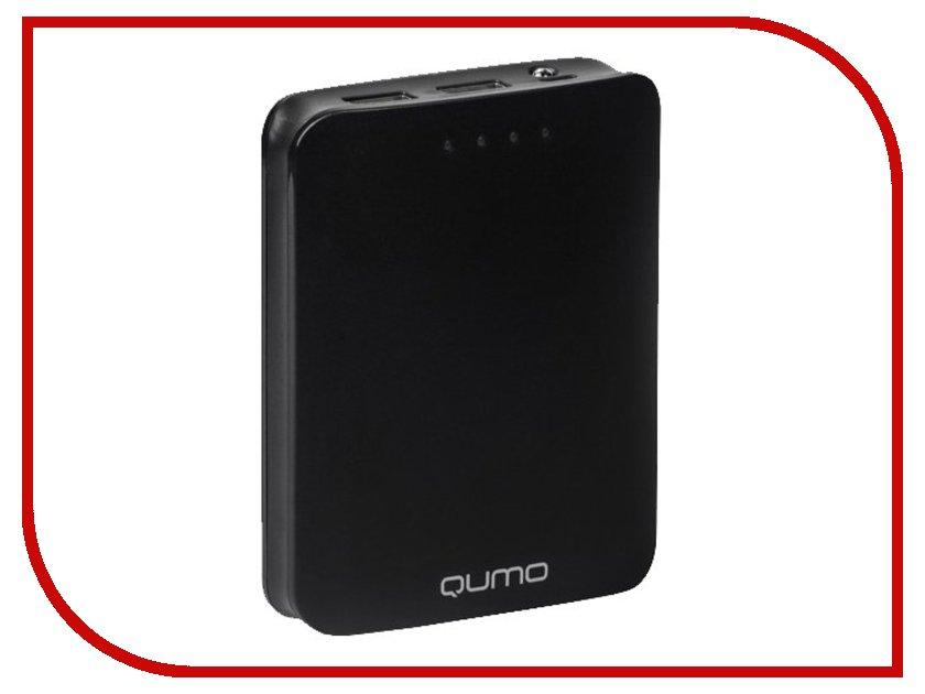 Аккумулятор Qumo PowerAid 10400 10400mAh Black qumo poweraid slim smart black внешний аккумулятор