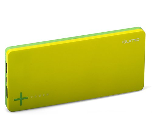 Аккумулятор Qumo PowerAid Slim Twin 9000 9000 mAh Yellow/Green