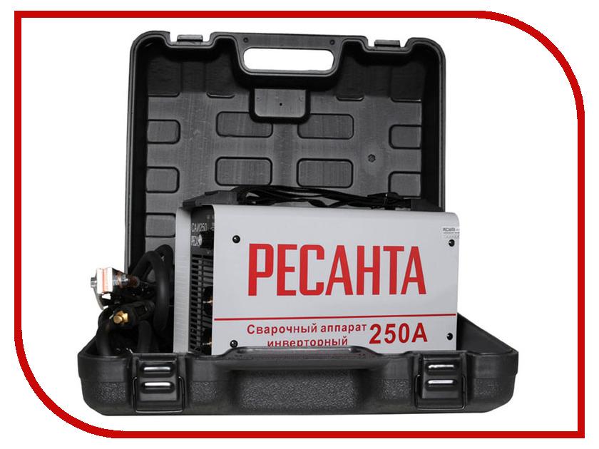 Сварочный аппарат Ресанта САИ 250 в кейсе сварочный аппарат интерскол иса 250 10 6
