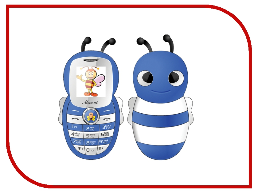 Сотовый телефон Maxvi J8 Blue сотовый телефон maxvi c20 blue