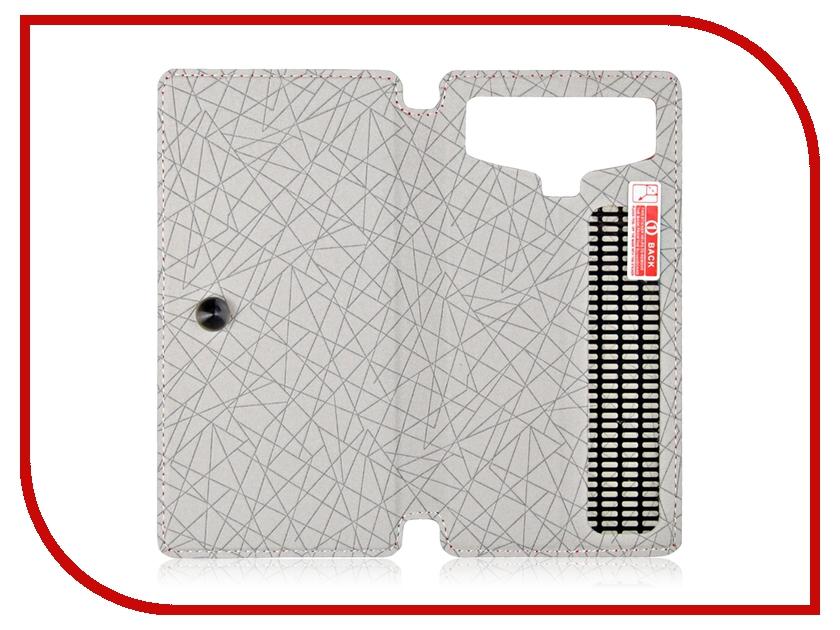 Аксессуар Чехол 4.8-inch Partner Book-case универсальный White ПР032074 цена и фото