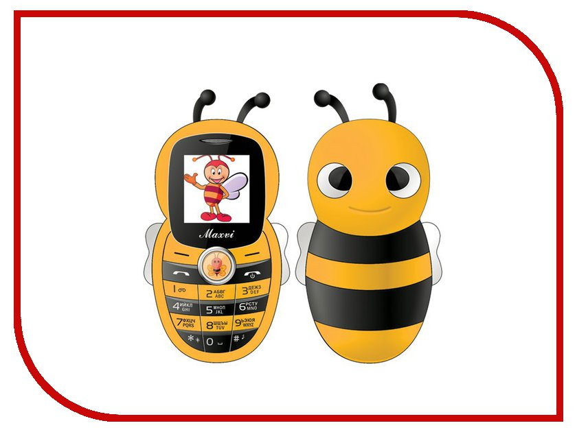 Сотовый телефон Maxvi J8 Yellow