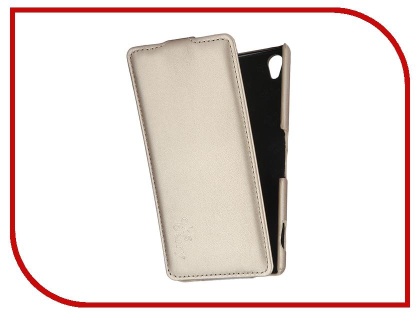 Аксессуар Чехол Sony Xperia Z3 Aksberry Gold