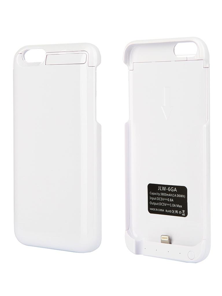 Аксессуар Чехол-аккумулятор Aksberry 6GA 3800 mAh for iPhone 6 White