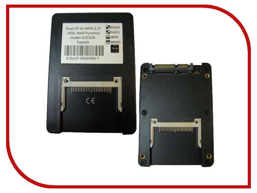 Аксессуар Espada Dual CF to SATA DCFS2R<br>