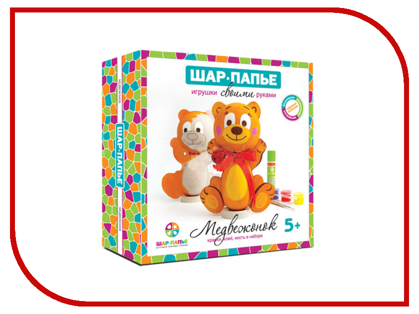 Набор Шар-Папье Медвежонок B01671 набор д детского творчества шар набор шар папье медвежонок