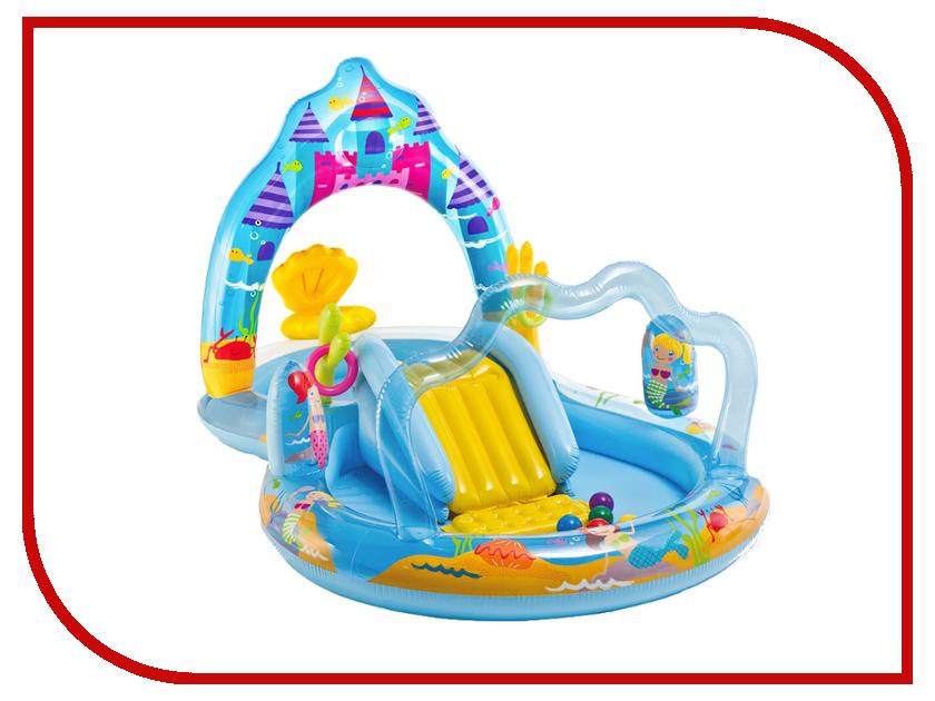 Детский бассейн Intex Замок русалки 57139 кровать comfort plush 152х203х56см со встроенным насосом 220в intex 64418