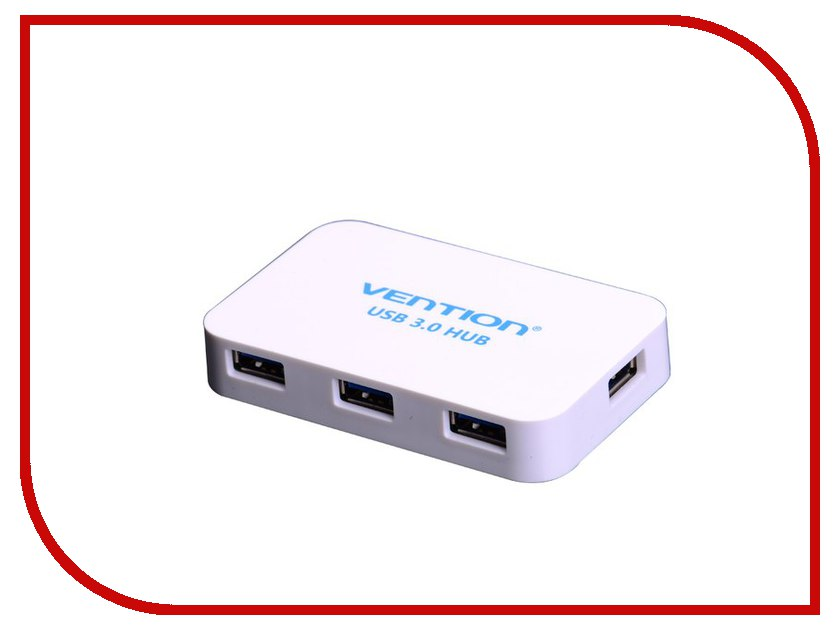 Хаб USB Vention VAS-J31 USB 4-ports White<br>