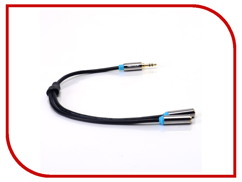 Аксессуар Vention 3.5 Jack M - 2x3.5 Jack F VAB-C01-B кабель соединительный 3 0м vention 3 5 jack m 3 5 jack m плоский vab a08 s300