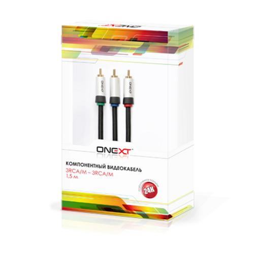 Аксессуар Onext 3RCA/M 1.5m 60302 композитный