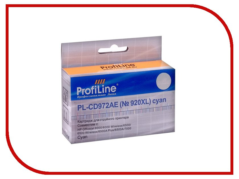 Картридж ProfiLine PL-CD973AE №920XL for HP 6000/6500/7000 Magenta картридж струйный hp 920xl cd973ae пурпурный для hp oj 6000 6500 700стр