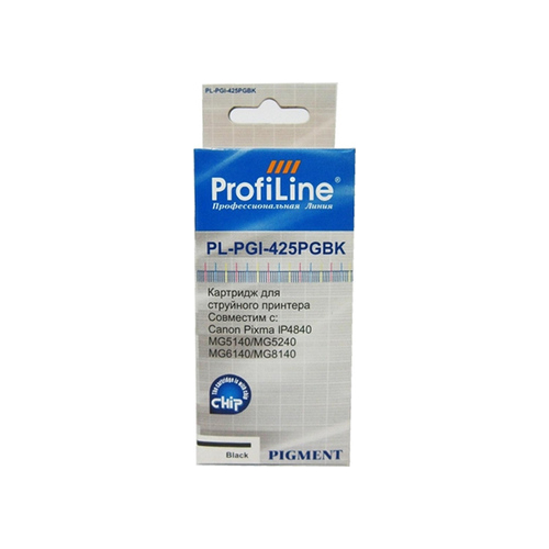 Картридж ProfiLine PL-PGI-425BK for Canon Pixma IP4840/4940/MG5140/MG5240/MG6140/MG8140 Black