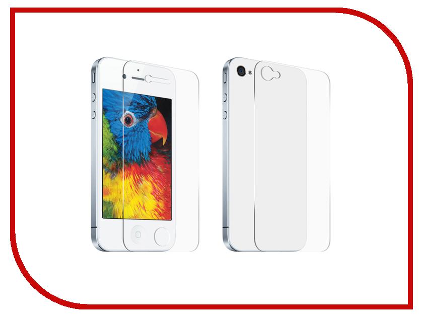 Аксессуар Защитный комплект DF iSet-01 for iPhone 4 / 4S rone ep pc15 stylish droplet liquid effect back case for iphone 4 4s yellow golden