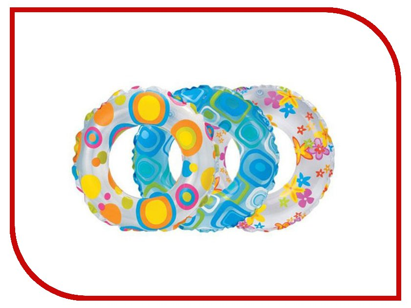 Надувной круг Intex Ливели 59230 intex узоры ливели 3 вида 61см от 3лет intex