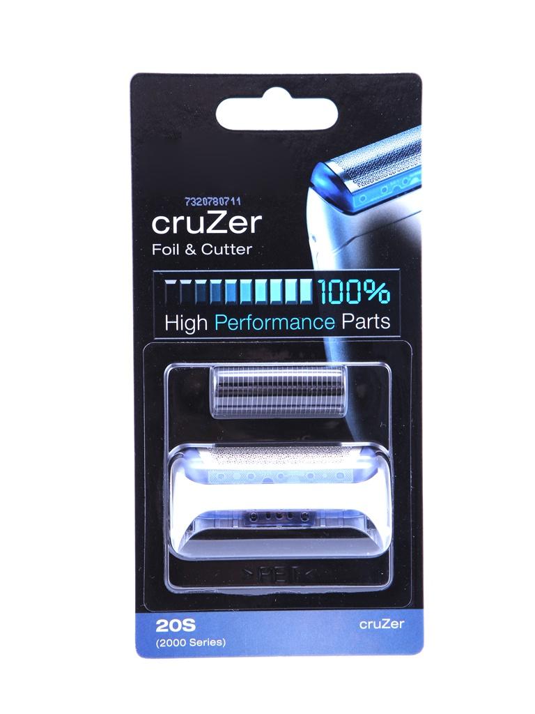 Аксессуар Сетка и режущий блок Braun Series 2 Cruzer 20S аксессуар чистящая кассета braun ccr 2