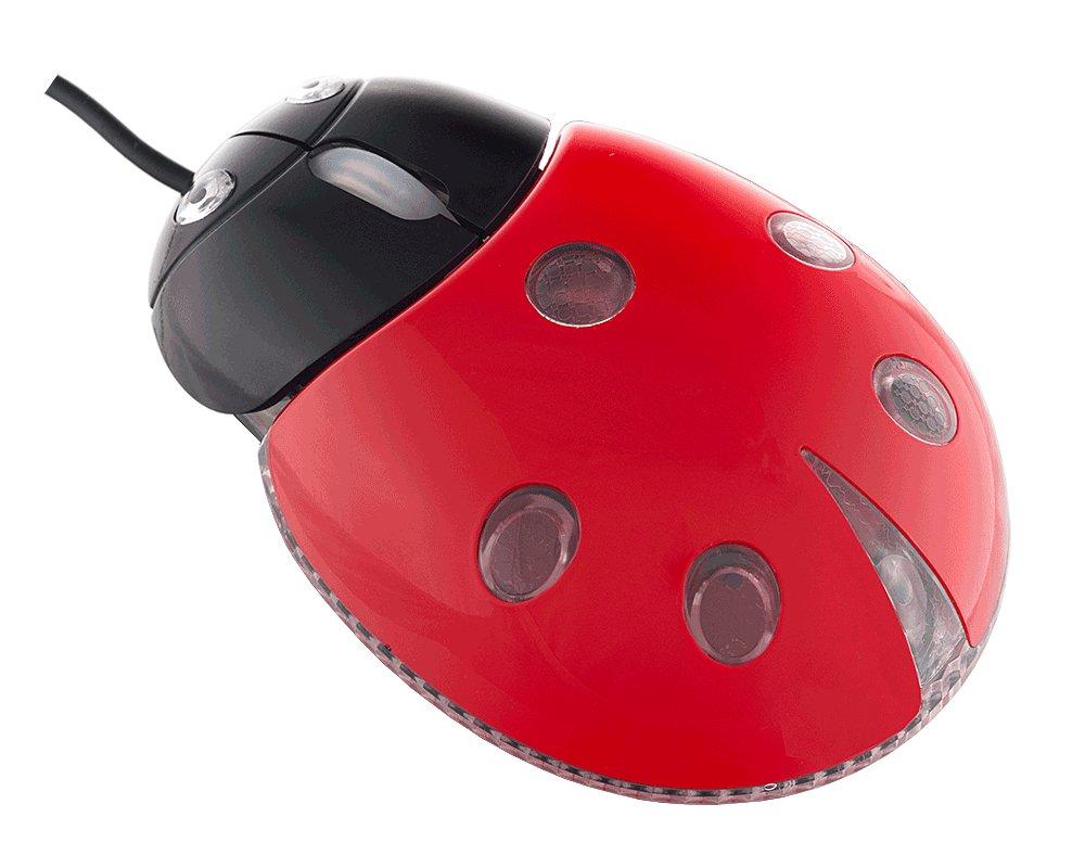 Мышь проводная Perfeo Божья Коровка PF-210-OP-RD Black-Red USB