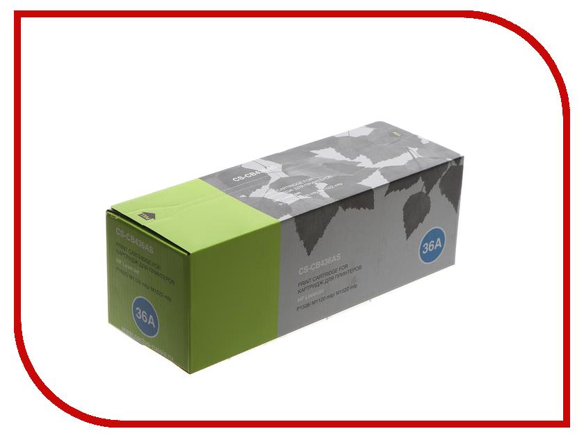 Картридж Cactus CS-CB436AS для HP LaserJet P1505/M1120mfp/M1522mfp Black картридж cactus 520 cs pgi520bk black
