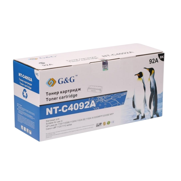 Аксессуар G&G NT-C4092A for HP LaserJet 1100/1100A/3200 Series/Canon EP-22 for LBP-800/810