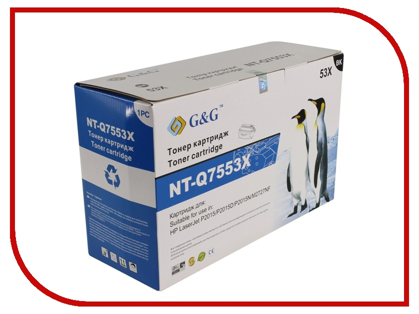 Картридж G&amp;G NT-Q7553X for HP LaserJet P2010/P2014/P2015/M2727 MFP Series<br>
