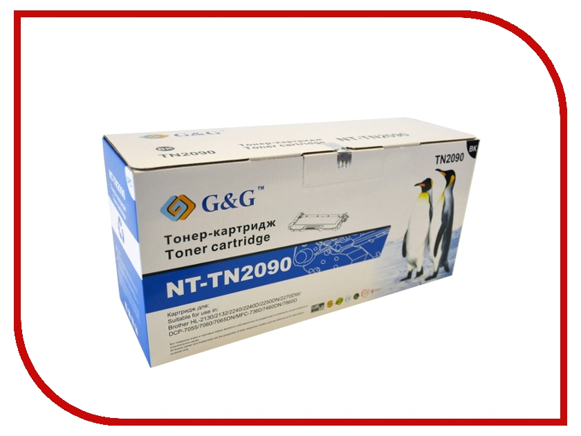 Картридж G&G NT-TN2090 for Brother HL-2130/2132/2240/2250/DCP-7055/7060/7065/MFC-7360/7860 g&g nt tn1075 тонер картридж для brother hl 1110 1112 dcp 1510 1512 mfc 1810 1815