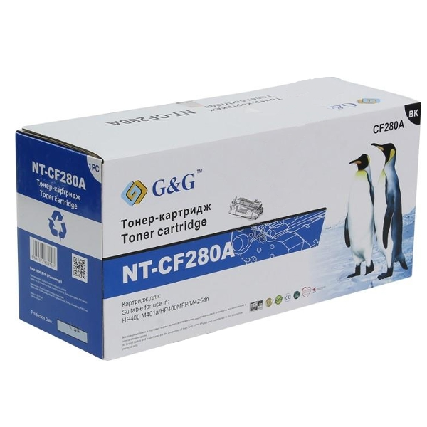 Картридж G&G NT-CF280A for HP LaserJet Pro 400/M401/M425