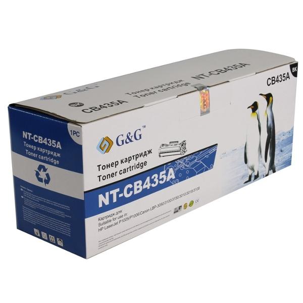 Картридж G&G NT-CB435A для HP LaserJet P1005/1006/1007/1008/Canon LBP-3010/3100/3050/3150/3018